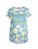 Koszulka ciążowa z nadrukiem fullprint Lemons