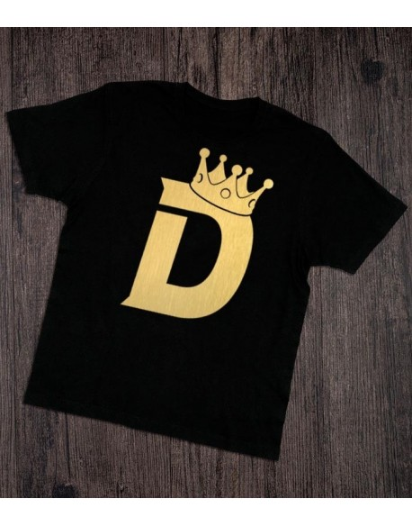 Koszulka ze złotym nadrukiem Król Dziadek