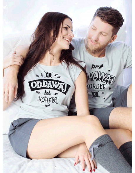 Piżamy dla pary Oddawaj kordłę