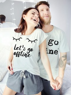 Piżamy dla pary Lets go offline