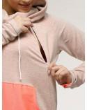 FREEDAY kolor różowy melanż + fluoróżowa kangurka