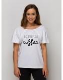 Tshirt do karmienia piersią ALLDAY Ok but first coffee