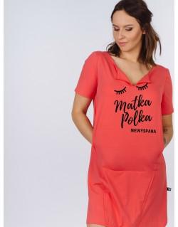Koszula nocna do karmienia piersią SOSLEEPY Matka Polka Niewyspana
