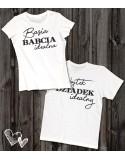 Koszulki z imionami Babcia Dziadek Idealni