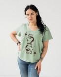 Koszulki dla par Pale Green Karty