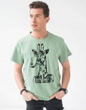 Koszulki dla par Pale Green Żyrafy