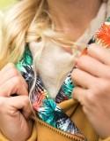 Ocieplana bluza bawełniana do noszenia MUSZTARDOWA