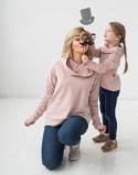 Bluzay dla mamy i córki Hygge Fluo
