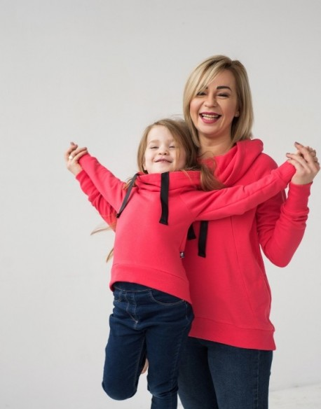 Bluzy dla mamy i córki Hygge Czerwone