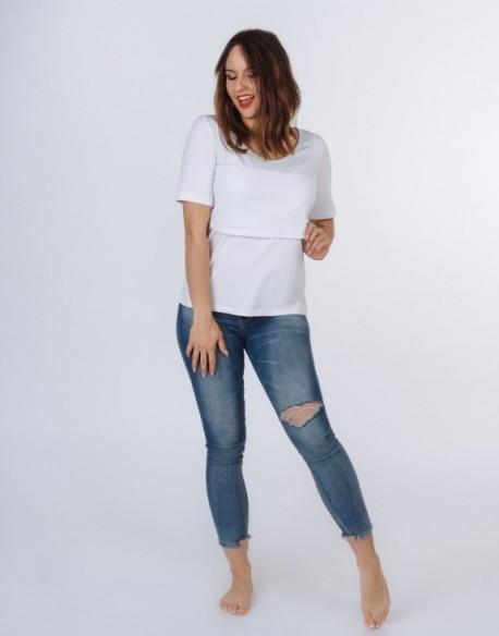 Tshirt do karmienia piersią i ciążowy SOEASY | basic