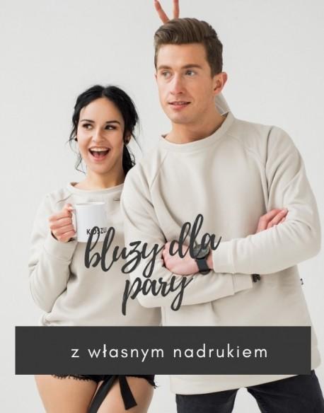 Bluzy dla pary z własnym napisem lub grafiką