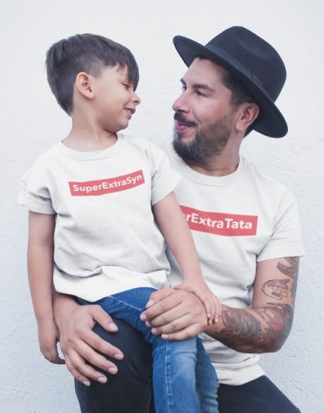Koszulka i body/koszulka dla taty i dziecka SuperExtra