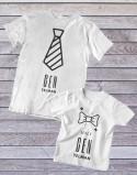 Koszulka i body/koszulka dla taty i syna Gentelman