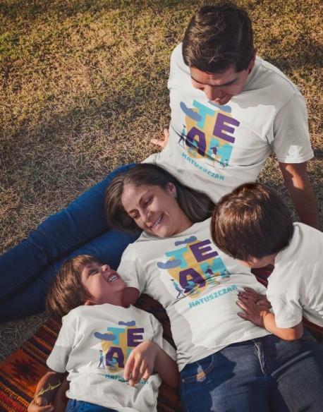Zestaw koszulek dla rodziny Team + nazwisko