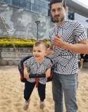 Koszulki dla taty i dziecka B&W