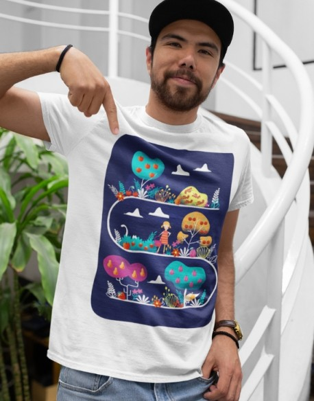 Koszulka dla taty i malucha Owocowy sad
