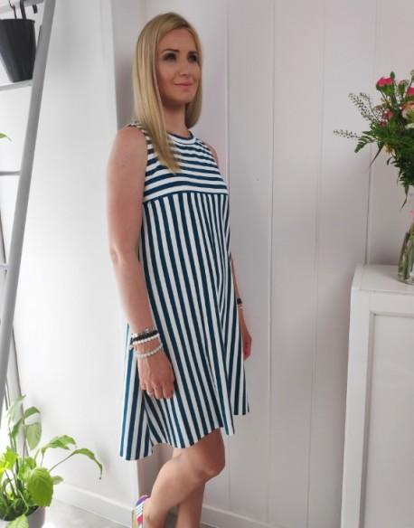 Sukienka ciążowa i do karmienia piersią DAYDREAM emerald stripes