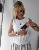 Sukienka do karmienia piersią i ciążowa OMG light stripes
