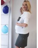 Komplet bluzka I spódnica ciążowa Ready-to-go mars
