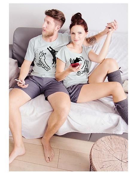 Piżamy dla pary Króliczki