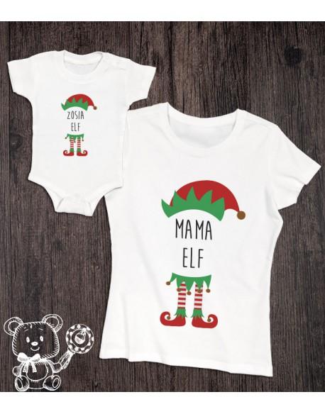 Koszulka i body dla mamy i córki ELF