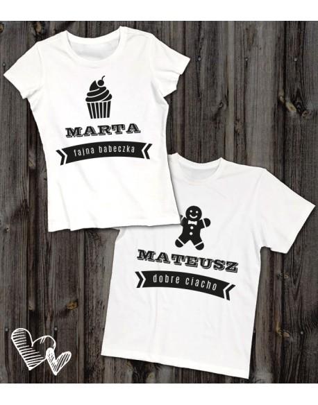 Koszulki dla pary Ciacho/babeczka
