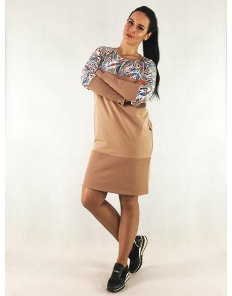 Sukienka ciążowa i do karmienia piersią BOHO LATTE DRESS