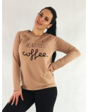 Bluza do karmienia piersią SIMPLE Ok but first coffee latte