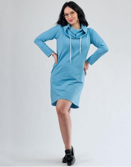 Sukienka do karmienia piersią i ciążowa Motherhood niebieska
