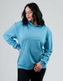 Bluza do karmienia piersią i ciążowa LOOSE niebieska