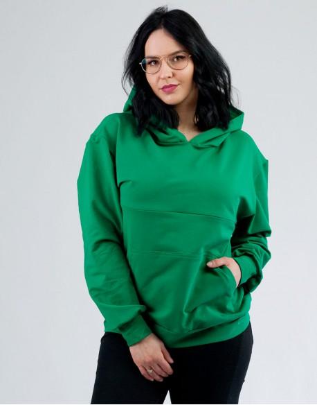 Bluza do karmienia piersią i ciążowa LOOSE zielona