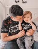 Koszulki dla taty i dziecka Brum Black