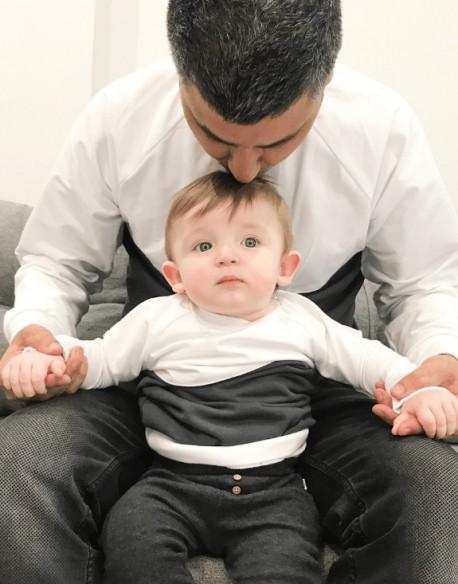 Takie same bluzy dla taty i syna