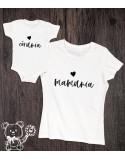 Koszulka i body dla mamy i córki Mamunia