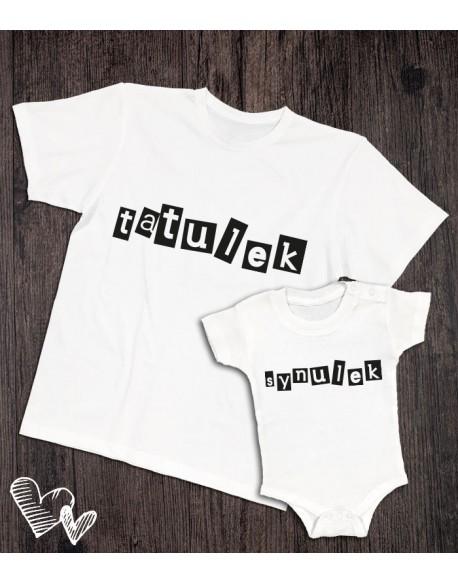 Koszulka i body/koszulka dla taty i syna Tatulek Synulek