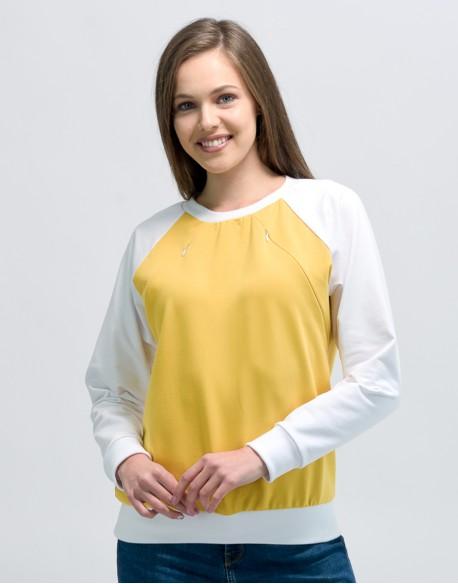 Bluza do karmienia piersią FITHIT żółta