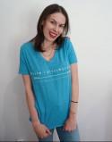 T-shirt by gruszecka niebieski