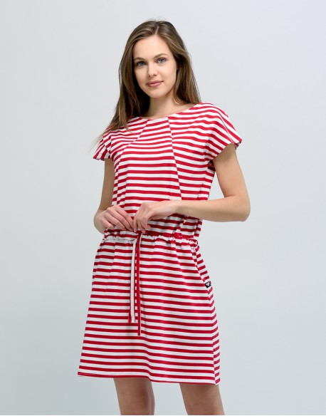 Sukienka do karmienia piersią i ciążowa SOCOOL paski