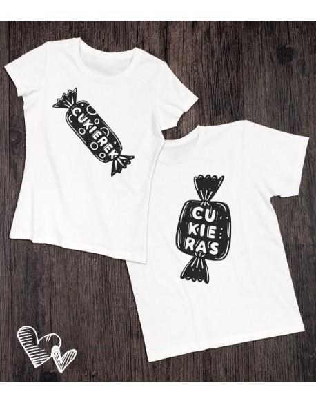 Koszulki dla pary Cukierki
