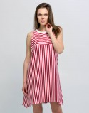 Sukienka ciążowa i do karmienia piersią DAYDREAM czerwono-biała