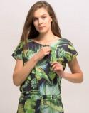 Sukienka do karmienia piersią i ciążowa SOCOOL liście czarna