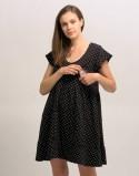 Sukienka do karmienia piersią i ciążowa CHARMING kropki