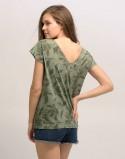 T-shirt do karmienia piersią ALLDAY khaki