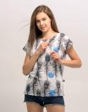 T-shirt do karmienia piersią ALLDAY pawie oko