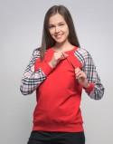 Bluza do karmienia piersią FITHIT czerwona krata