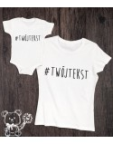 Koszulka i body dla mamy i dziecka Hastag z personalizacją