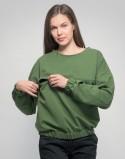 Bluza do karmienia piersią OVERSIZE zielona