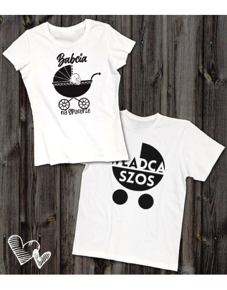 Koszulki dla babci i dziadka Spacer