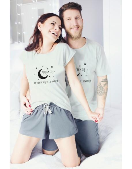 Piżamy dla pary Księżyc