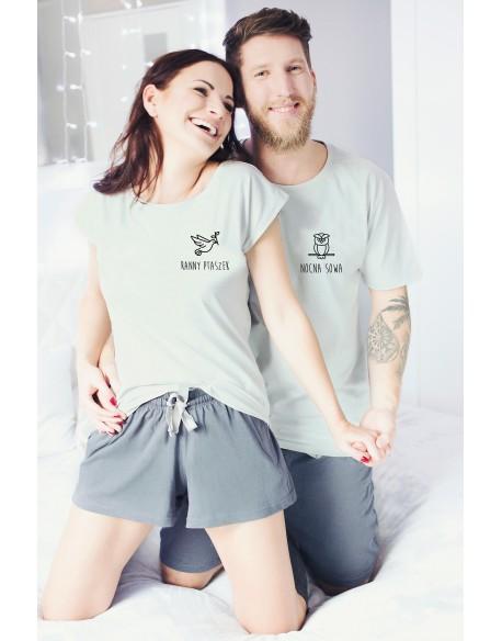 Piżamy dla pary Ptaszek i Sowa